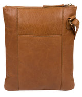 'Gardenia' Saddle Tan Leather Cross Body Bag image 3