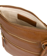 'Gardenia' Saddle Tan Leather Cross Body Bag image 4