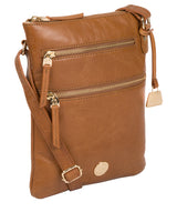 'Gardenia' Saddle Tan Leather Cross Body Bag image 5