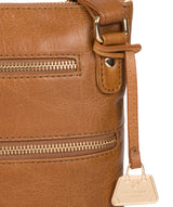 'Gardenia' Saddle Tan Leather Cross Body Bag image 6