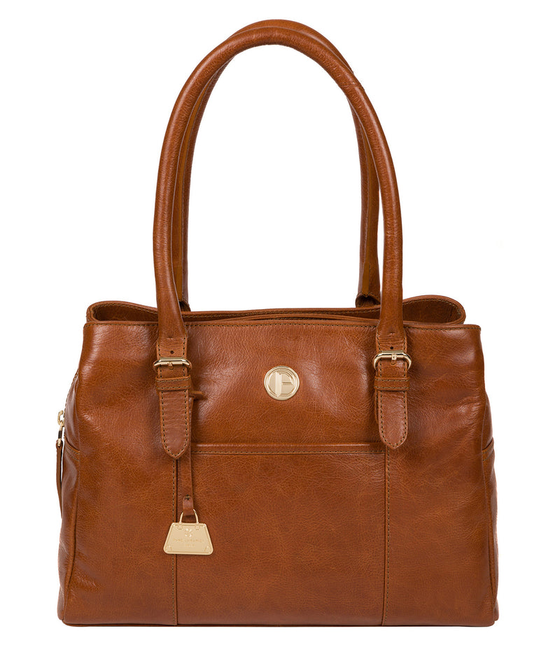 'Fleur' Hazelnut Leather Handbag image 1