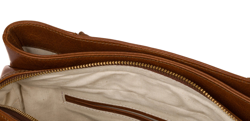 'Fleur' Hazelnut Leather Handbag image 4