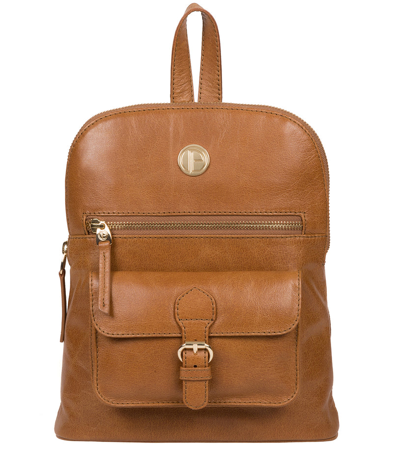'Zinnia' Saddle Tan Leather Backpack image 1