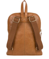 'Zinnia' Saddle Tan Leather Backpack image 3