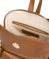 'Zinnia' Saddle Tan Leather Backpack image 4