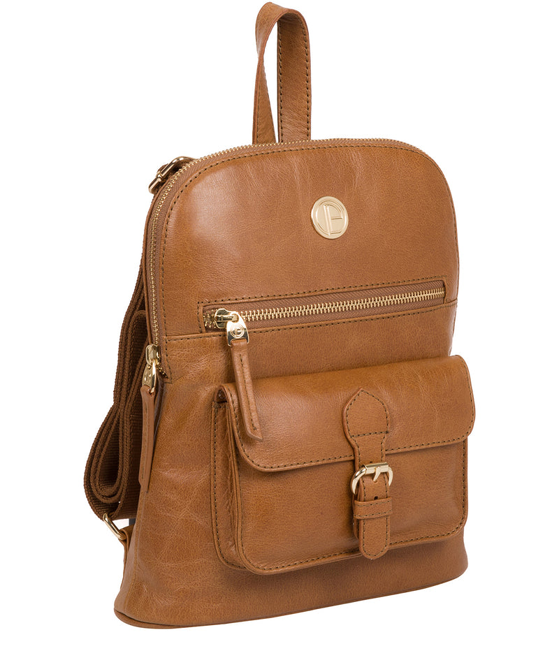 'Zinnia' Saddle Tan Leather Backpack image 5