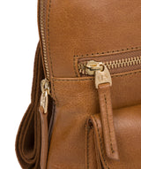 'Zinnia' Saddle Tan Leather Backpack image 6
