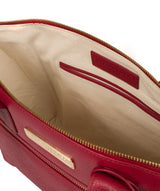 'Faye' Berry Red Leather Tote Bag image 4