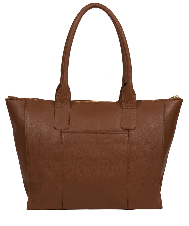 'Faye' Tan Leather Tote Bag image 3