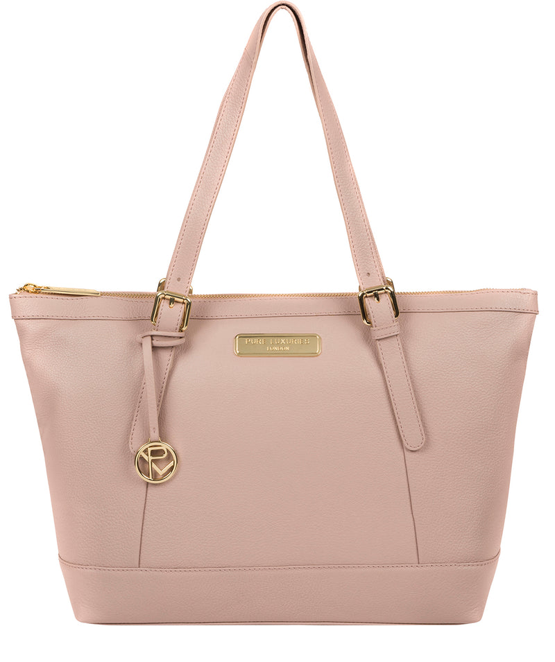 'Emily' Blush Pink Leather Tote Bag image 1