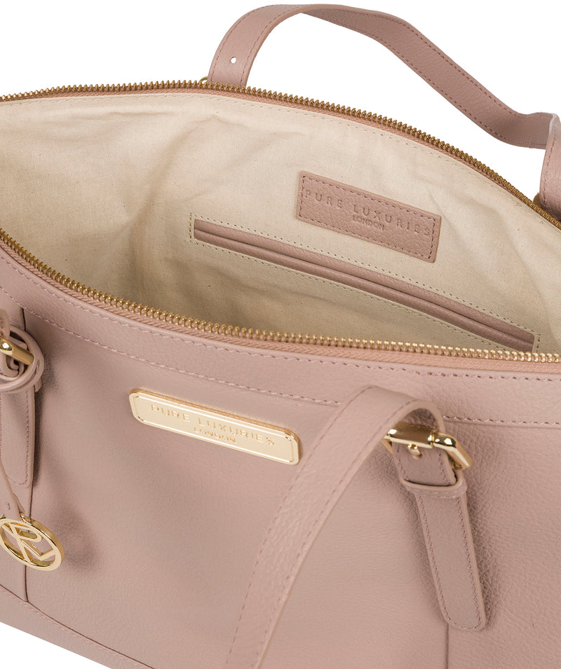 'Emily' Blush Pink Leather Tote Bag image 4