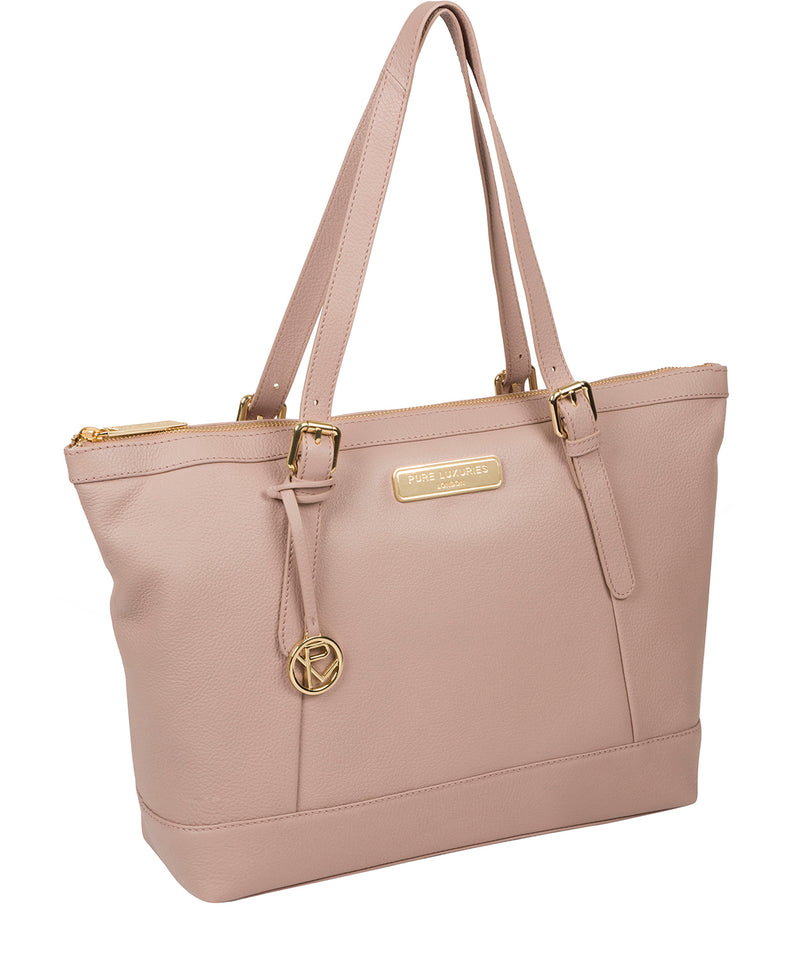 'Emily' Blush Pink Leather Tote Bag image 5