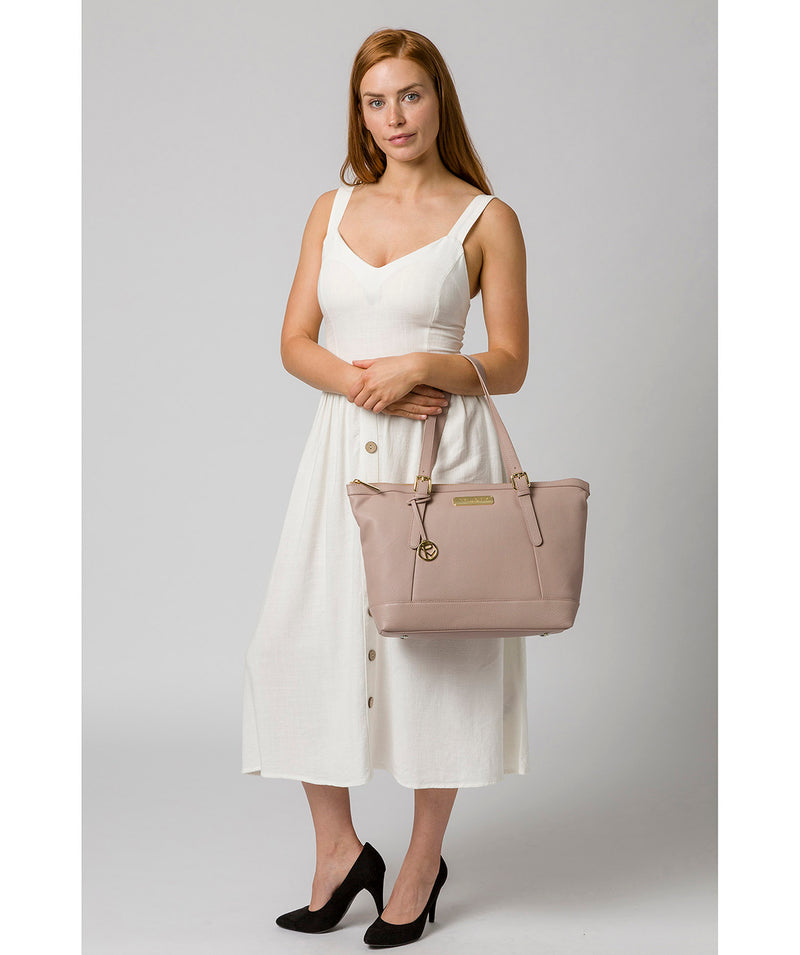 'Emily' Blush Pink Leather Tote Bag image 2
