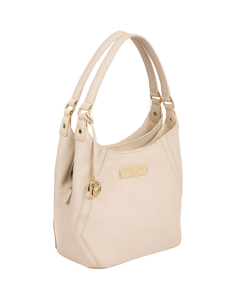 'Abigail' Frappe Leather Shoulder Bag
