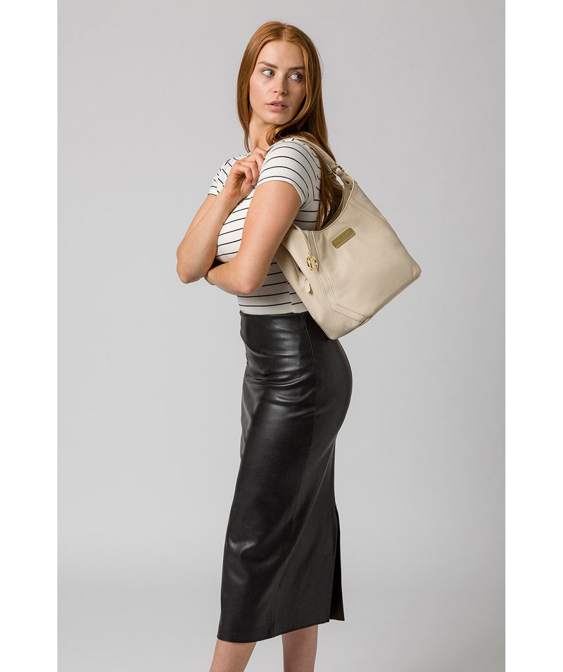 'Abigail' Frappe Leather Shoulder Bag image 2