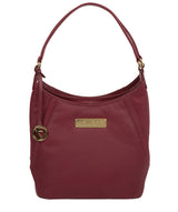 'Abigail' Pomergranate Leather Shoulder Bag image 1
