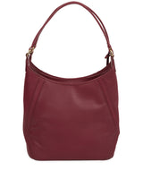 'Abigail' Pomergranate Leather Shoulder Bag image 3