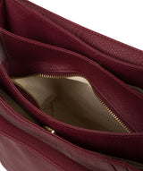 'Abigail' Pomergranate Leather Shoulder Bag image 4