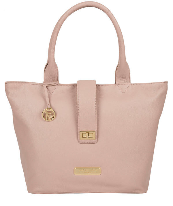 'Annabelle' Blush Pink Leather Tote Bag image 1