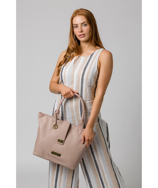 'Annabelle' Blush Pink Leather Tote Bag image 2