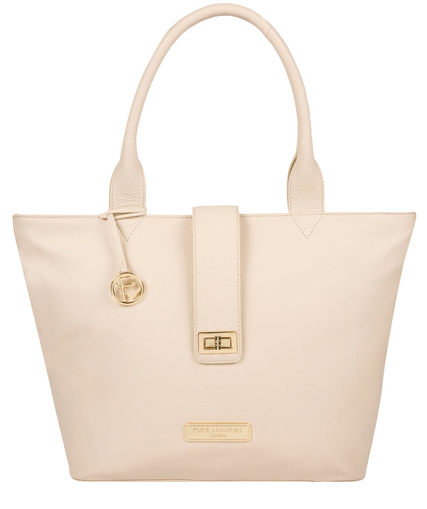 'Annabelle' Frappe Leather Tote Bag image 1