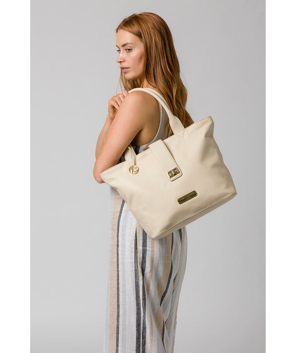 'Annabelle' Frappe Leather Tote Bag image 2