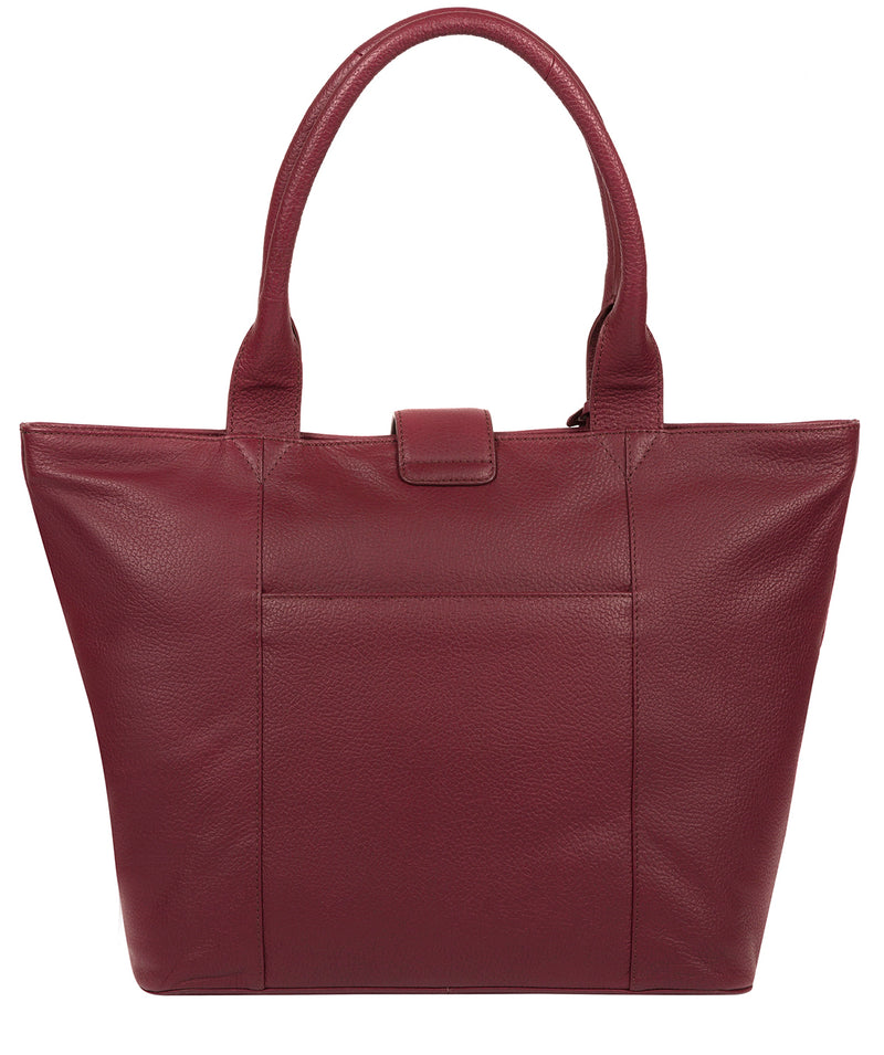 'Annabelle' Pomegranate Leather Tote Bag image 3