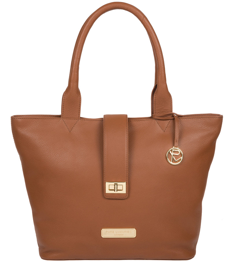 'Annabelle' Tan Leather Tote Bag image 1