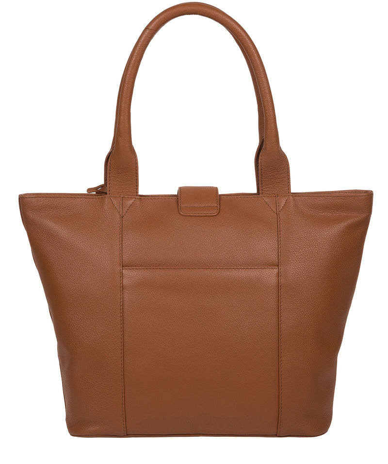 'Annabelle' Tan Leather Tote Bag image 3