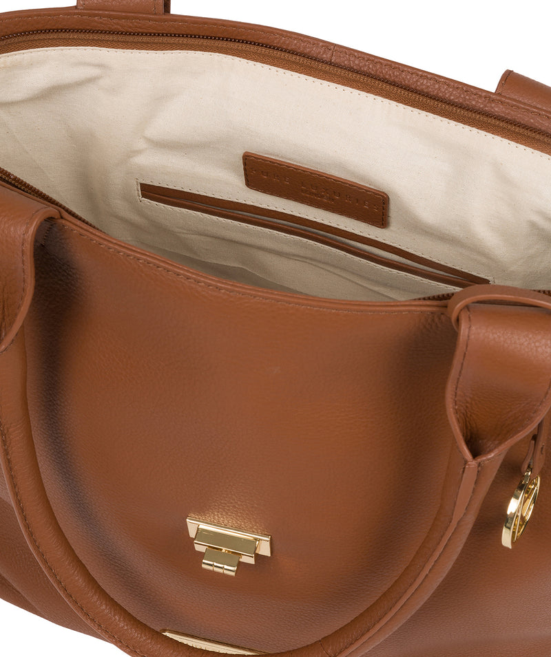 'Annabelle' Tan Leather Tote Bag image 4