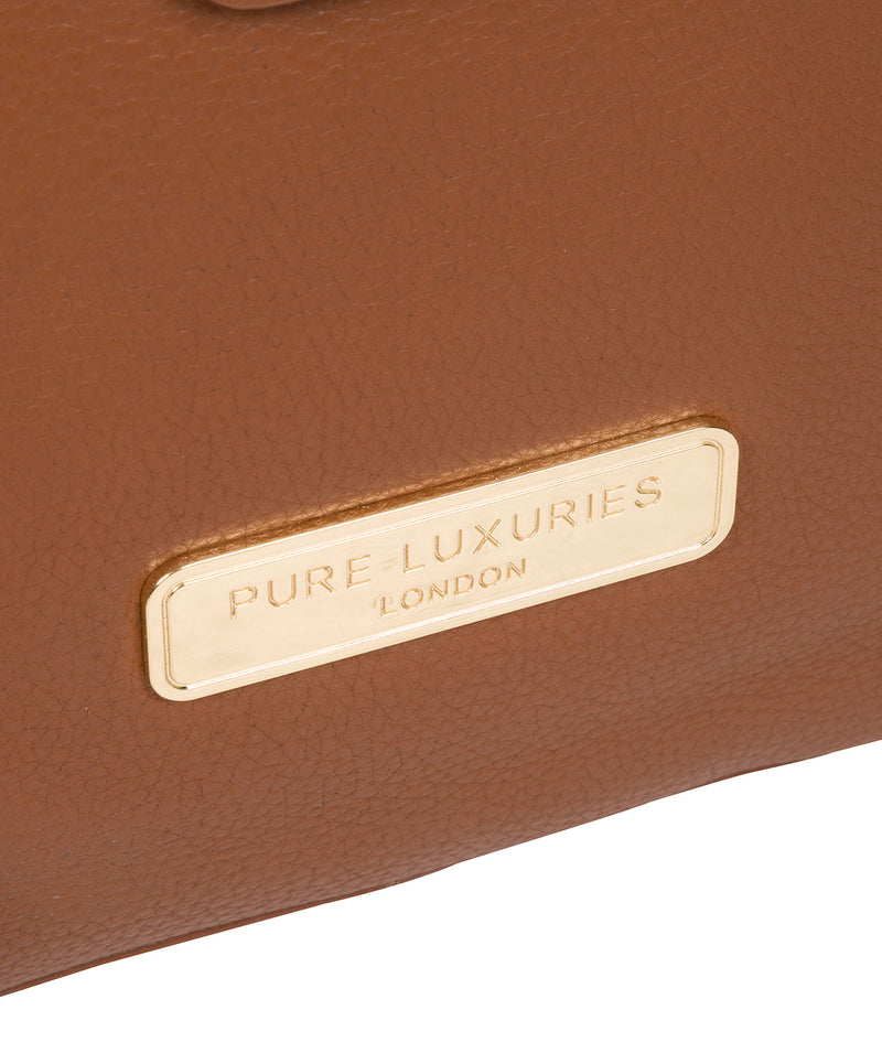 'Annabelle' Tan Leather Tote Bag image 6