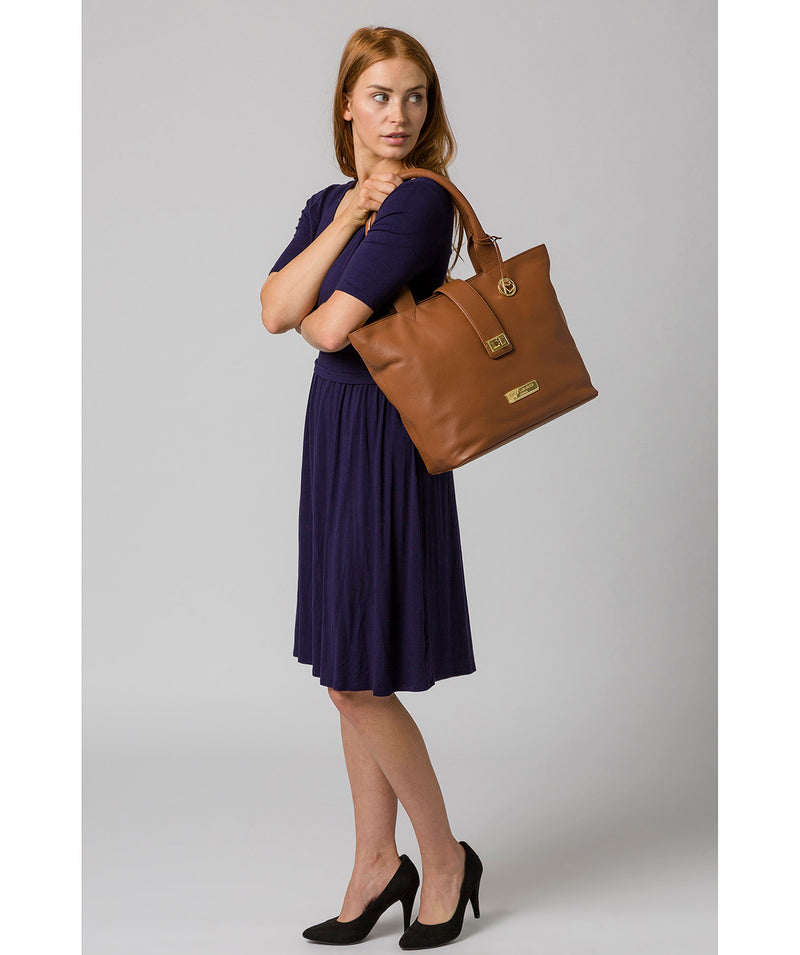 'Annabelle' Tan Leather Tote Bag image 2