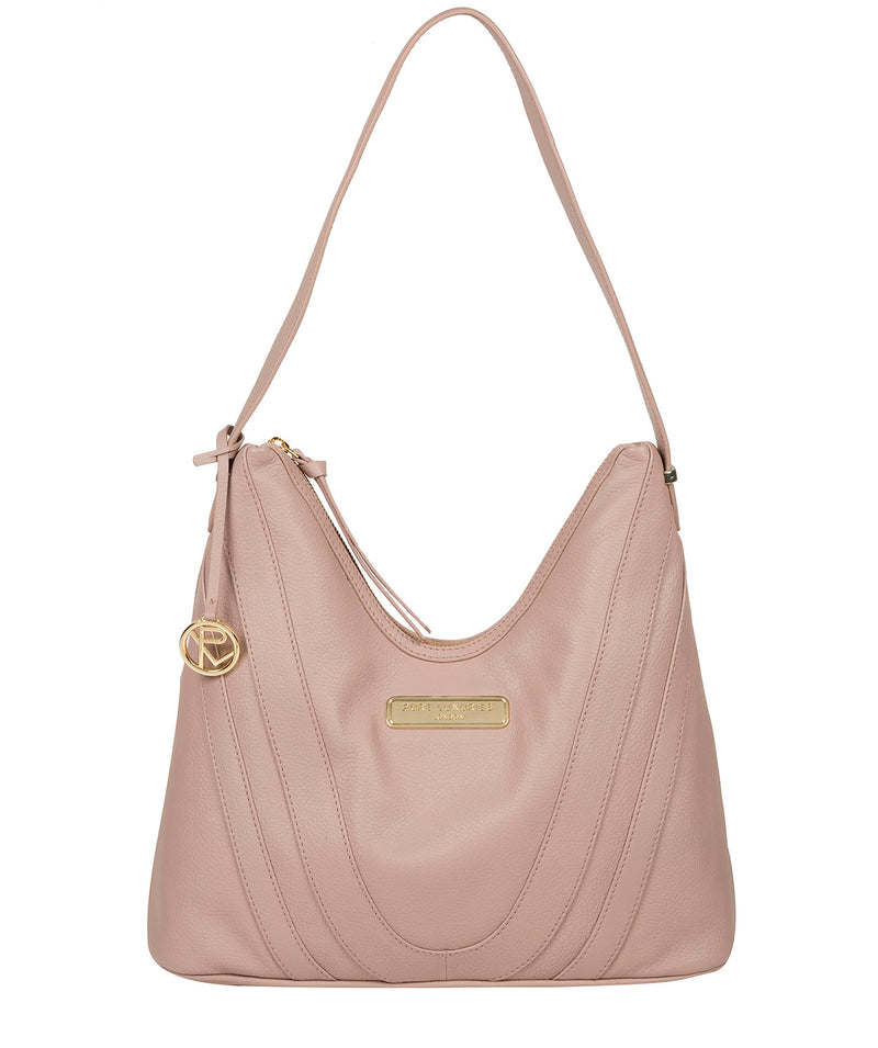 'Felicity' Blush Pink Leather Shoulder Bag image 1