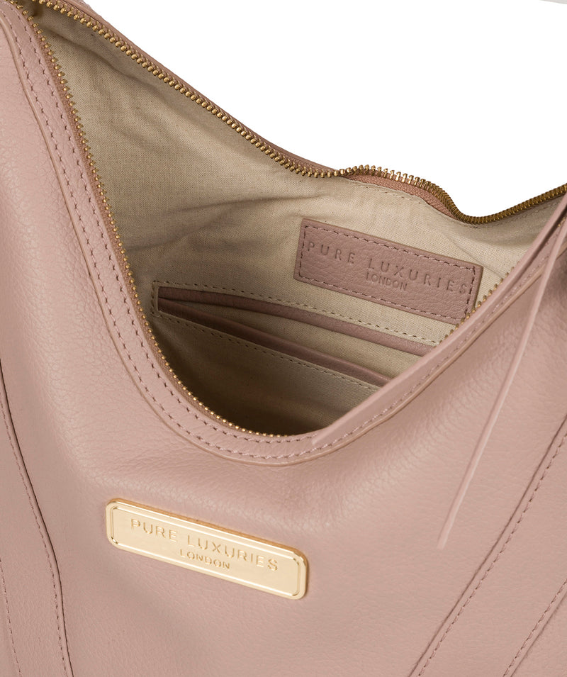 'Felicity' Blush Pink Leather Shoulder Bag image 4