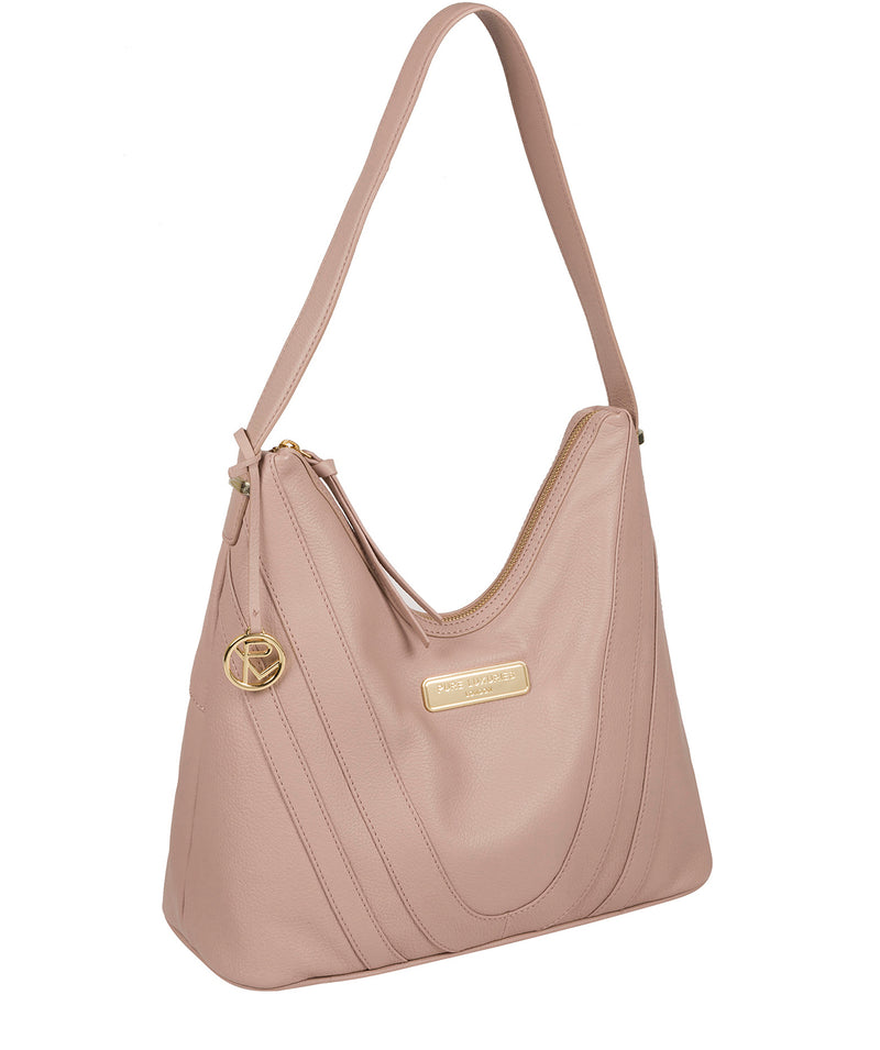 'Felicity' Blush Pink Leather Shoulder Bag image 5