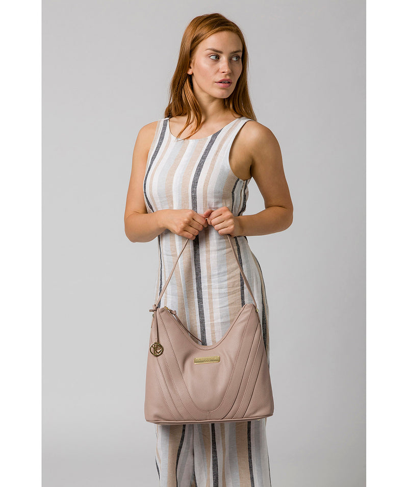 'Felicity' Blush Pink Leather Shoulder Bag image 2
