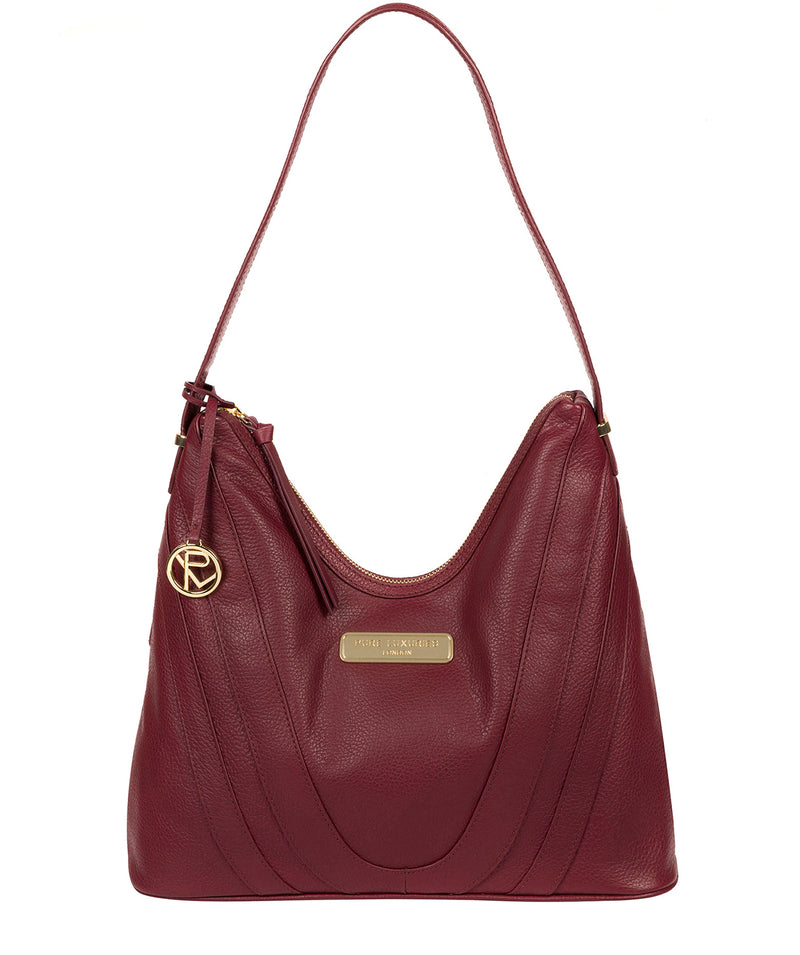 'Felicity' Pomegranate Leather Shoulder Bag image 1