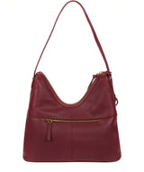 'Felicity' Pomegranate Leather Shoulder Bag image 3