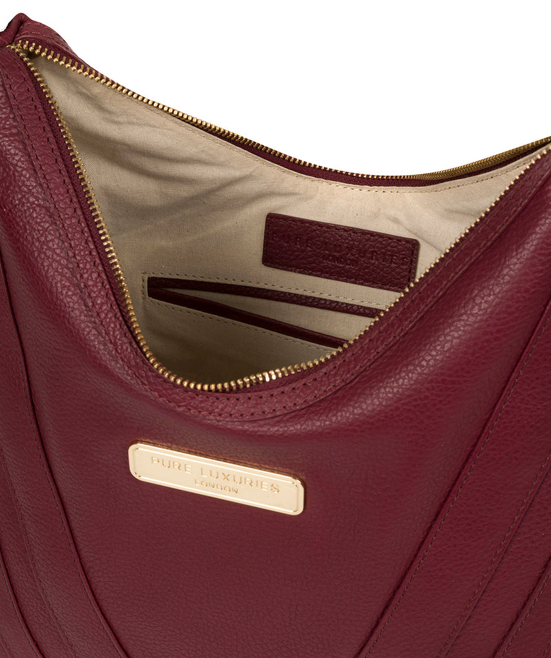 'Felicity' Pomegranate Leather Shoulder Bag image 4