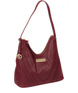 'Felicity' Pomegranate Leather Shoulder Bag image 5