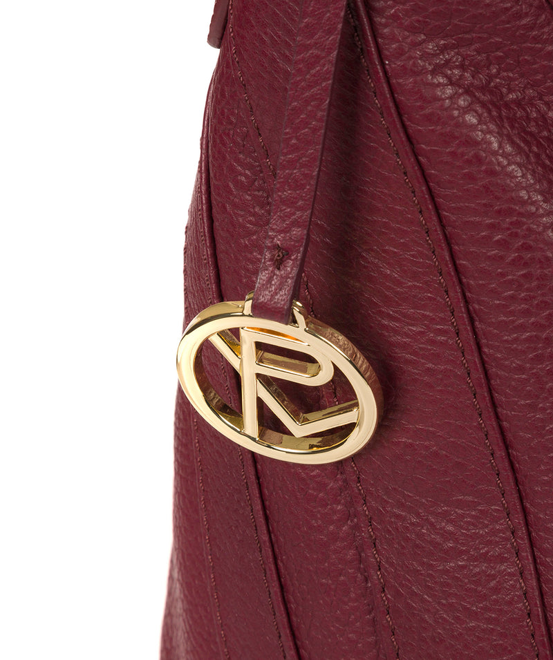'Felicity' Pomegranate Leather Shoulder Bag image 6