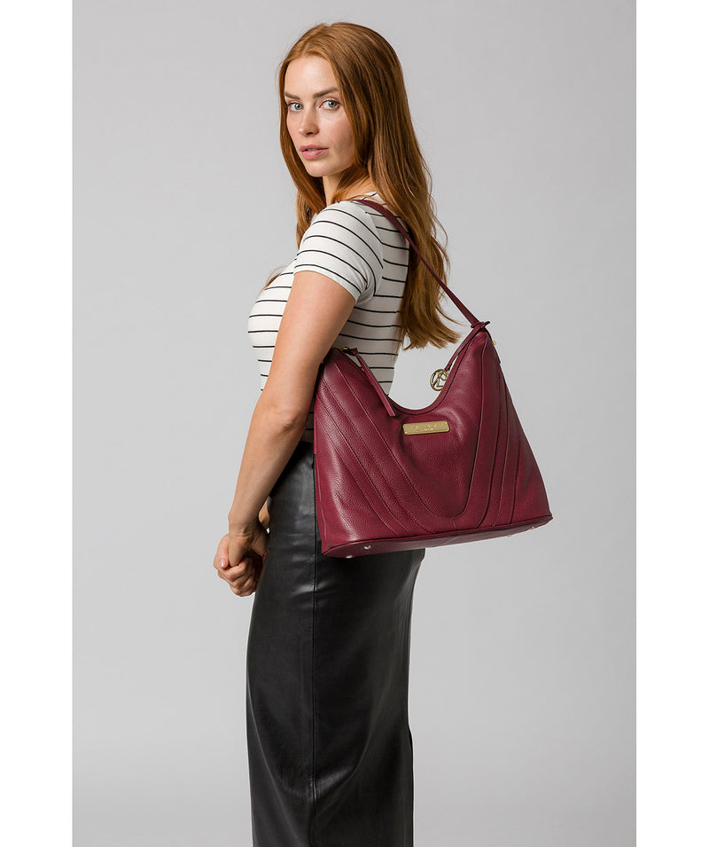 'Felicity' Pomegranate Leather Shoulder Bag image 2