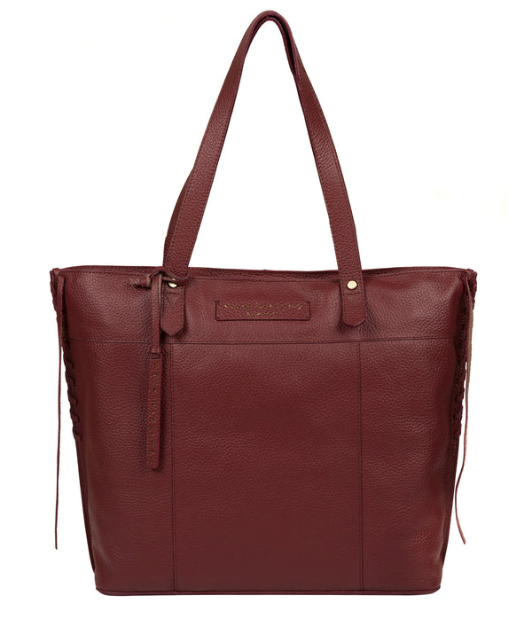 'Hampstead' Burgundy Leather Tote Bag image 1