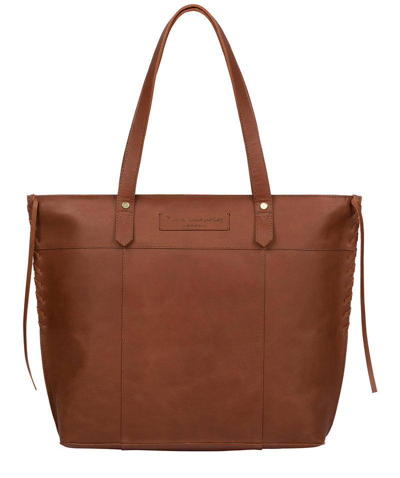 'Hampstead' Cognac Leather Tote Bag image 1