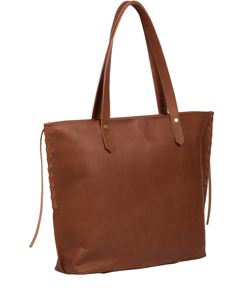 'Hampstead' Cognac Leather Tote Bag image 3