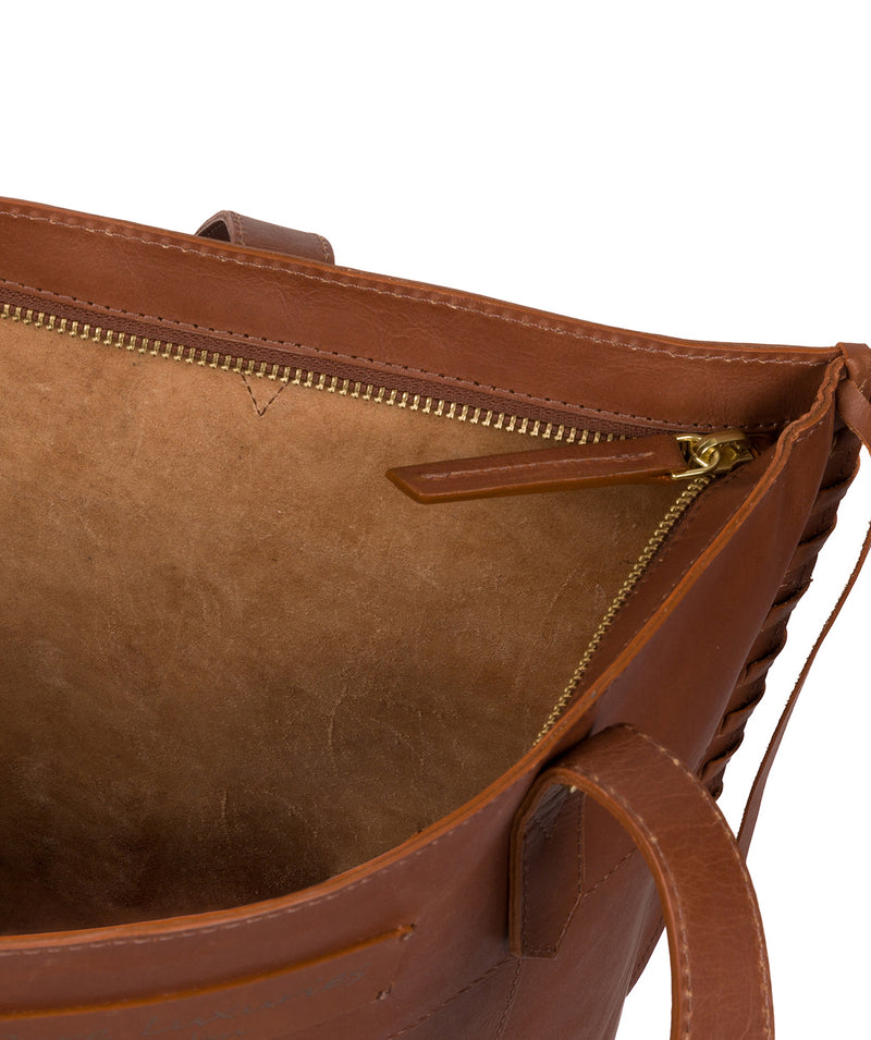 'Hampstead' Cognac Leather Tote Bag image 4