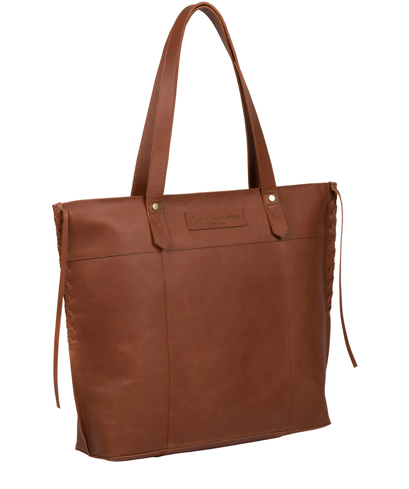 'Hampstead' Cognac Leather Tote Bag image 5