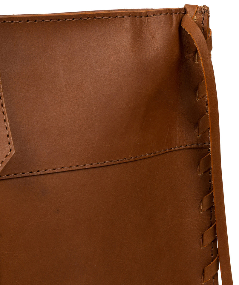'Hampstead' Cognac Leather Tote Bag image 6