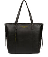 'Hampstead' Jet Black Leather Tote Bag image 1