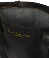 'Hampstead' Jet Black Leather Tote Bag image 4